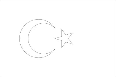 Coloring Page For The Flag Of Turkey