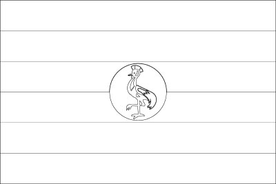 Coloring page for the Flag of Uganda